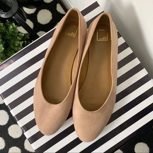14th & Union Faux Suede Tan Nude Casual Flat Shoes
